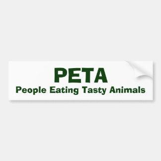 PETA, People Eating Tasty Animals Car Bumper Sticker