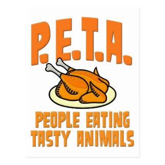 PETA People Eating Tasty Animals Postcard