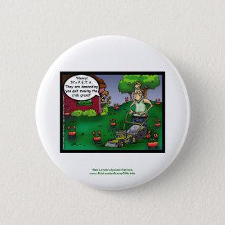PETA & The Crabgrass Cartoon Funny Buttons