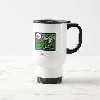PETA & The Crabgrass Cartoon Funny Travel Mug