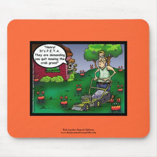 PETA & The Crabgrass Cartoon Mouse Pad