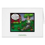PETA y el dibujo animado Notecard divertido del ga Tarjeton