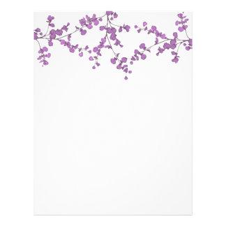 Petal Leaves ~ Letterhead / Invitations Purple