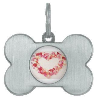 Petal Love Heart Pet Name Tag
