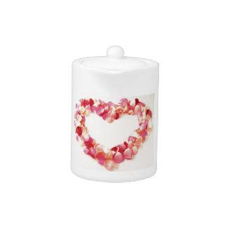 Petal Love Heart Teapot