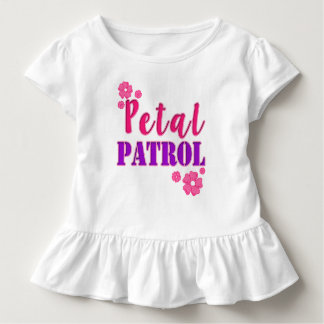 Petal Patrol Flower Girl toddler shirt