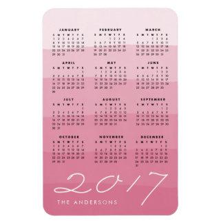 Petal | Personalized Watercolor 2017 Calendar Magnet