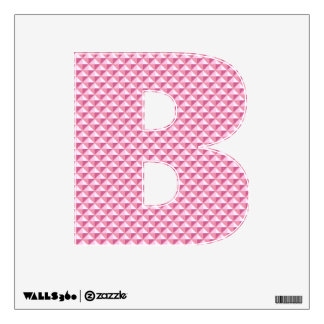 Petal pink, enamel look, studded grid wall sticker