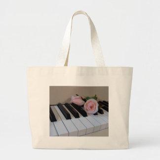 Petal Pink Keys Tote Bags
