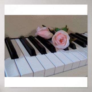 Petal Pink Keys Poster