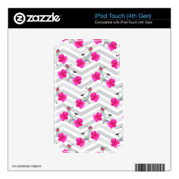 Petal Pusher Chevron iPod Touch 4G Decals