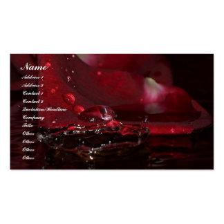Petal Splash Double-Sided Standard Business Cards (Pack Of 100)