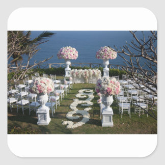 Petal-Wedding-Aisle-Runners-20 Square Sticker