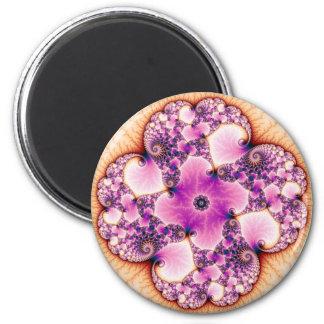 Petallic - Fractal Art 2 Inch Round Magnet