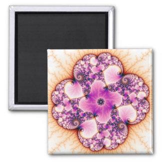 Petallic - Fractal Art 2 Inch Square Magnet