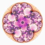 Petallic - Fractal Art Classic Round Sticker