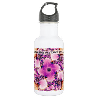 Petallic - Fractal Art Water Bottle