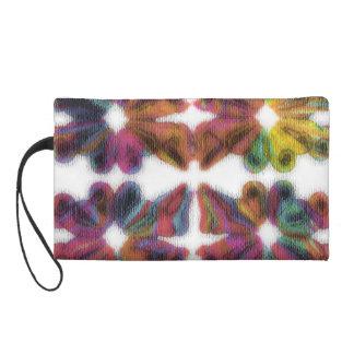 Pétalo-bolso abstracto multicolor de la acuarela