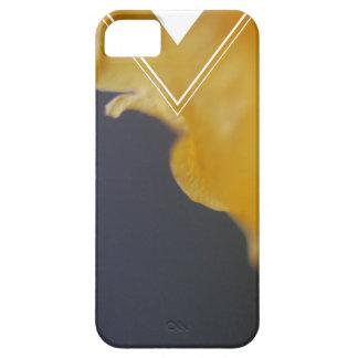 Pétalo color de rosa amarillo iPhone 5 fundas