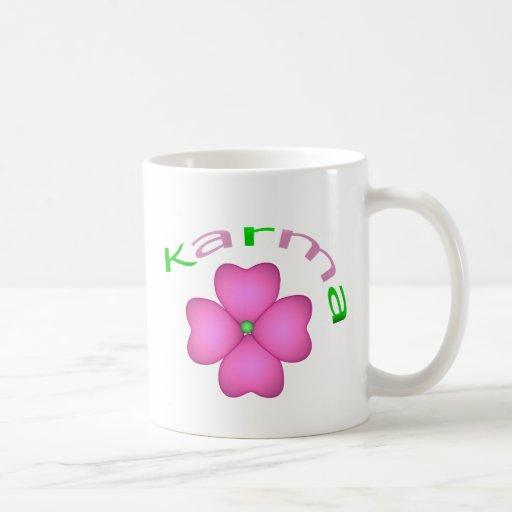 Pétalo de la flor - karma taza básica blanca