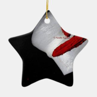 pétalo de un lirio con el estambre rojo adornos de navidad