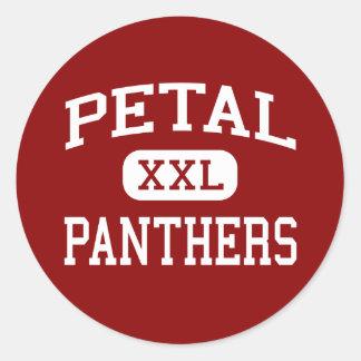 Pétalo - panteras - centro - pétalo Mississippi Etiqueta Redonda