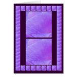 Pétalo púrpura santo de la flor - añada su texto tarjetas