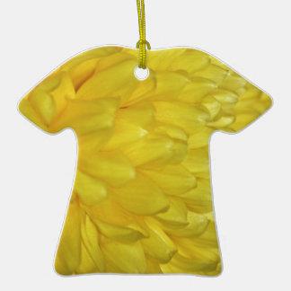 Pétalos amarillos de la dalia ornamentos de navidad
