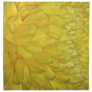 Pétalos amarillos de la dalia servilleta de papel