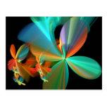 Pétalos anaranjados de la flor del arte del tarjetas postales