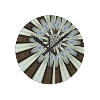 Pétalos azules de la flor del arte de las sandalia relojes de pared