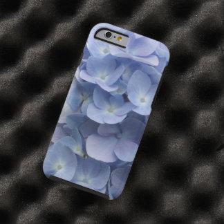 Pétalos azules del Hydrangea Funda De iPhone 6 Tough