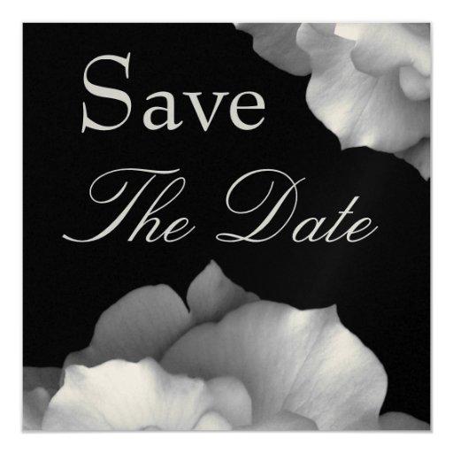 Pétalos BLANCOS elegantes que casan reserva que la Invitación 13,3 Cm X 13,3cm