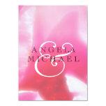 Pétalos color de rosa abstractos románticos comunicado personal