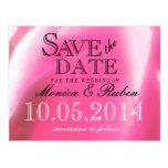 Pétalos color de rosa abstractos románticos postales
