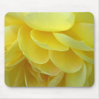 Pétalos color de rosa amarillos Mousepad