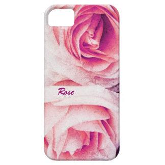 Pétalos color de rosa blandos en púrpura y rosa iPhone 5 fundas