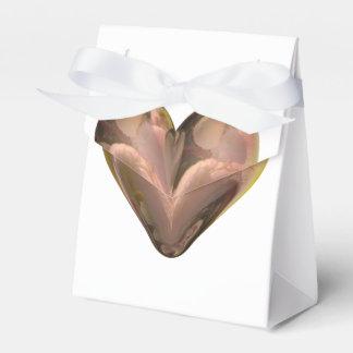 pétalos color de rosa del corazón caja para regalos