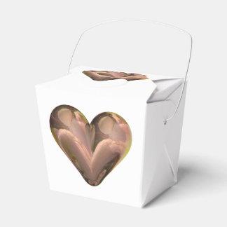pétalos color de rosa del corazón cajas para detalles de boda