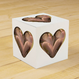 pétalos color de rosa del corazón cajas para regalos de boda