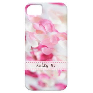 Pétalos color de rosa del rosa y blancos iPhone 5 carcasas