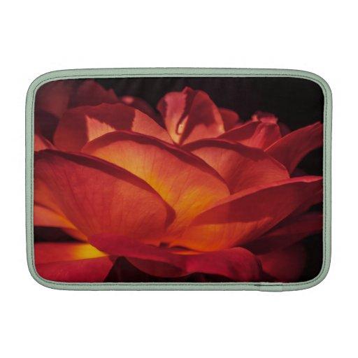 Pétalos color de rosa rojos fundas MacBook