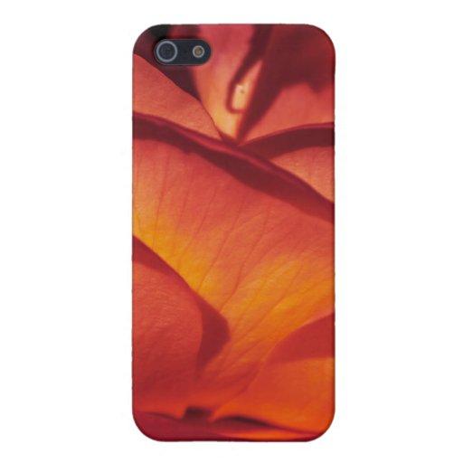 Pétalos color de rosa rojos iPhone 5 cobertura