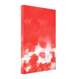 Pétalos color de rosa rojos que pintan el arte -