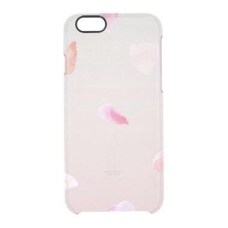 Pétalos color de rosa románticos funda clearly™ deflector para iPhone 6 de uncommon