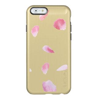 Pétalos color de rosa románticos funda para iPhone 6 plus incipio feather shine