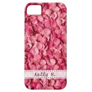 Pétalos color de rosa rosados iPhone 5 fundas