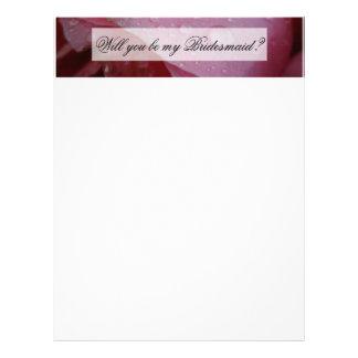 Pétalos color de rosa rosados membretes personalizados