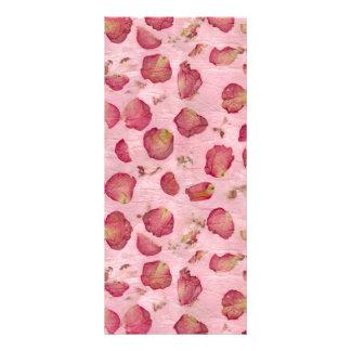 Pétalos color de rosa lona publicitaria