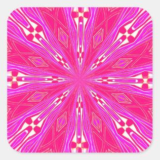 Pétalos en el punto rosa claro etiqueta